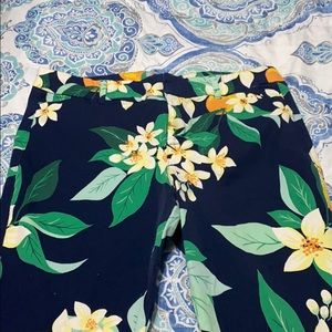 Old Navy Pixie Pants- Tropical Navy Floral